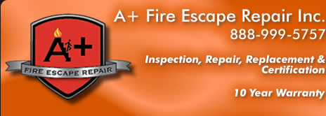 Fire escape repair